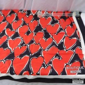 NWT Moschino boutique silk scarf